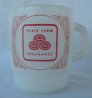 State Farm Insurance Mug Coffee Tea Advertising Fire-King D Handle Good Neighbor
