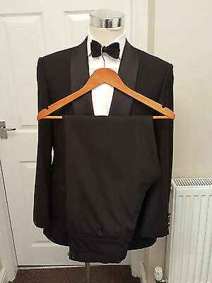 M&S COLLEZIONE SUPER 100s WOOL TUXEDO 40 R DINNER SUIT VGC