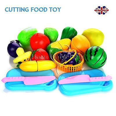 18pc Food Toy Cutting Kids Pretend Role Play Kitchen Fruit Vegetable Set Child