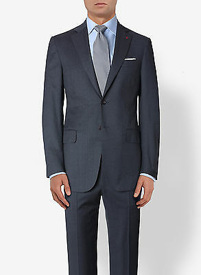 NEW! Charcoal Isaia 2 Button Slim-Fit Suit Lightweight 120s Wool 42 L/52IT $3895