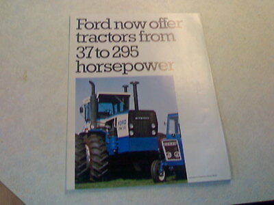 ford now offer tractors from 37 to 295 horsepower