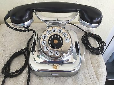 Antique telephone SIEMENS W 28 IRON-CHROME 1925
