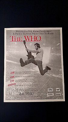 The Who,  Performing Tommy, Rare Original Print Promo Poster Ad