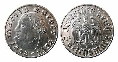 J353   5  Mark DRITTE REICH Luther  1933 A in SS