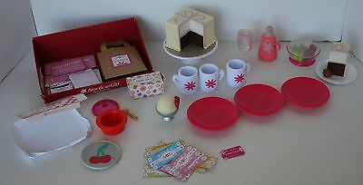 American Girl Cup and Saucer Set For Dolls, Cake Slice, Ice Cream, Various Food