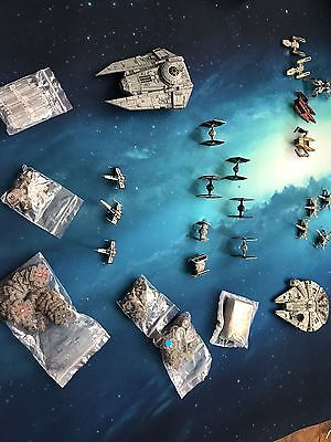 X Wing Large Lot And Playing Mat