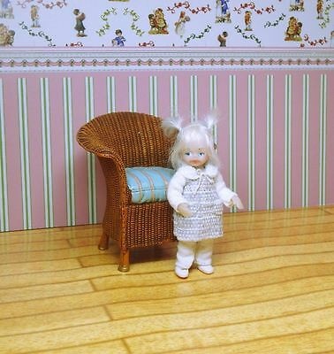 OOAK Miniature Handmade Sculpt Doll Baby Girl House Artist.