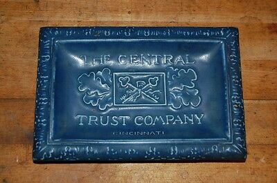 Rookwood Pottery Advertising Tray The Central Trust Company Cincinnati Ohio