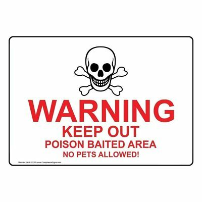 Compliancesigns plastic keep out poison baited no pets allowed sign compliancesigns aluminum keep out poison baited no pets allowed sign 14 x 10 publicscrutiny Image collections