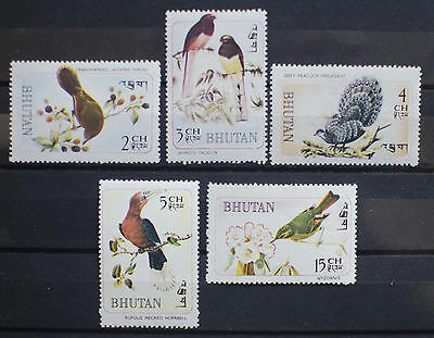 Bhutan Rare Bird Stamps Mint
