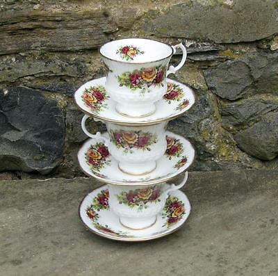 vintage Elizabethan bone china  20 piece floral tea set 1950s
