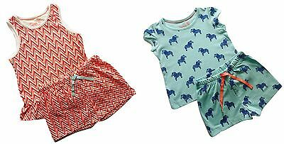 Baby Girls Nightwear NEW Ex M&S Marks And Spencer Pyjamas PJs Shorts Set 18-24