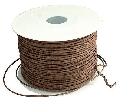 Paper cord brown 2mm x 100m Wire Craft cord Paper ribbon craft cord