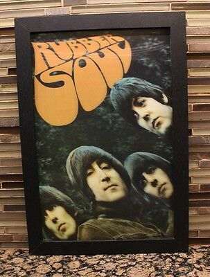 2011 THE BEATLES 3-D RUBBER SOUL POSTER/PHOTO SIGN by APPLE/PYRAMID AMERICA ***
