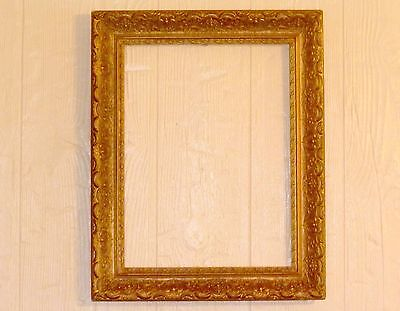 "20"" X 16"" GOLD Rococo WOOD & GESSO Composition WALL PICTURE FRAME"