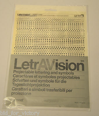 Letraset Letravision OHP Rub Transfers Transfer Symbols Stars Triangles Shapes
