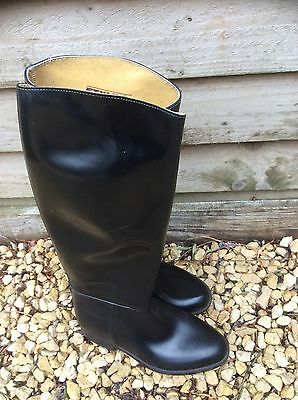 STYLO Ladies Leather Riding Boots. Size 6-6.5 Made in England Black