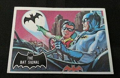 Vintage 1966 Batman card The Bat Signal #3 See pictures