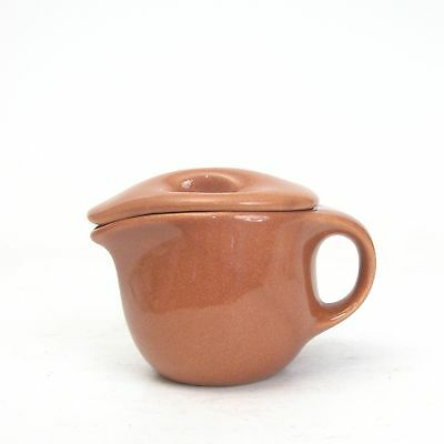 Russel Wright-Sterling China-Restaurant Ware-Cedar Brown-Individual Teapot & Lid