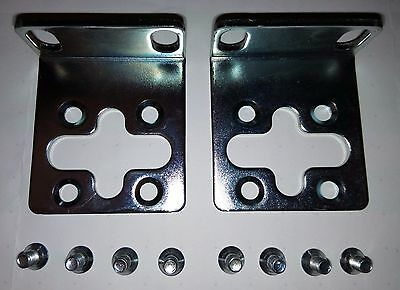 High Quality Rack Mount Bracket Ears PLUS Screws - for servers network switches
