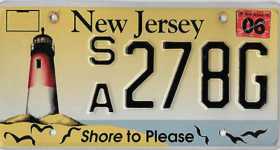 2005 New Jersey Shore To Please Lighthouse License Plate # Sa 278G  Bcplateman