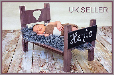 Newborn Bed Photo Prop Baby Photography Wood Bed Handmade