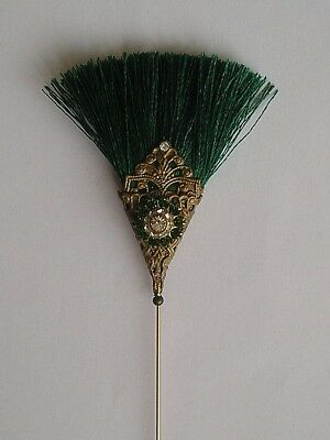 STUNNING GREEN ART DECO 1920's INSPIRED  VINTAGE FINDING / ANTIQUE STYLE HATPIN