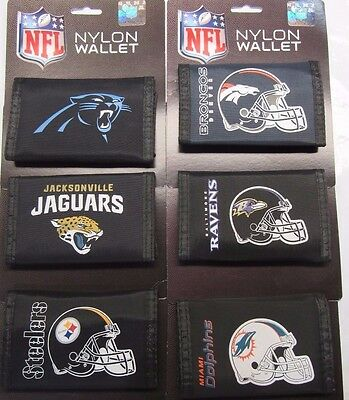 NFL Printed Tri-Fold Nylon Wallet RICO -Select- Team Below
