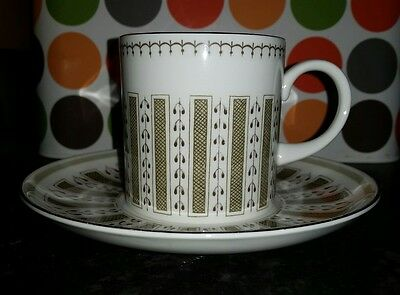 Susie Cooper Persia  Coffee Cup And Saucer