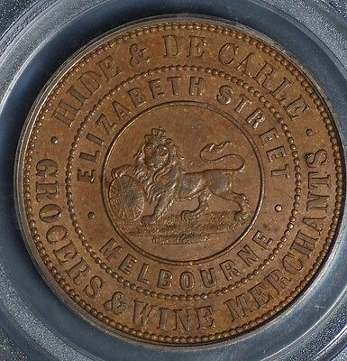 Hide & Decarle Penny Token R228/a238 Ms62Bn Pcgs Graded High Grade