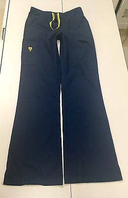 Wonder Wink Cargo Scrub Pants Navy Blue Size Small Tall