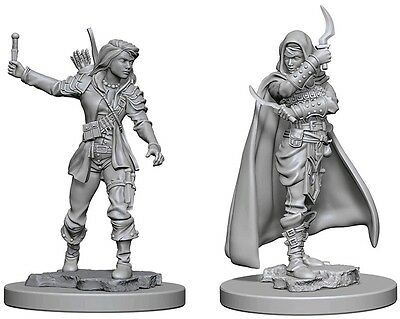 Human Female Rogue - Dungeons & Dragons Pathfinder Primed Unpainted 25Mm Minis