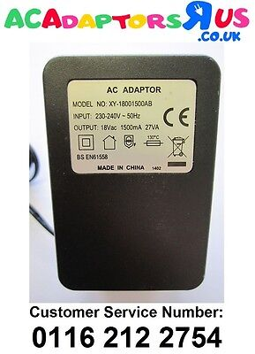 Replacement UK 18V Mains AC-AC Adaptor Power Supply for Alesis MultiMix 6 FX