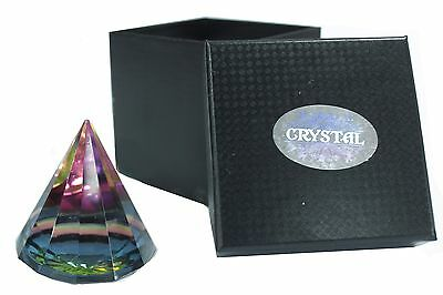 Esoteric 12 sided Magical Pyramid 60 mm , crystal, egypt , gift, rainbow