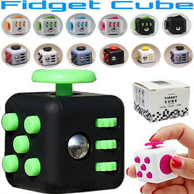 Fiddle Fidget Cube Spinner Dice Children Kids Toy Adults Stress Relief 3D ADHD