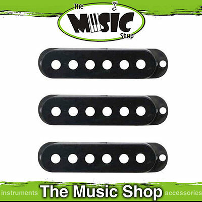 3 x Dimarzio Black Large Single Coil Pickup Covers -DM20B Suit HS, Area, FS1 etc