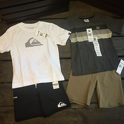 Boys 4T Clothing Lot Quiksilver DC Surf Skate Beach Summer Lot 4 Retail $114
