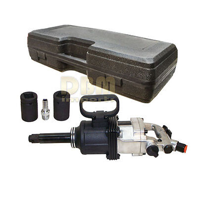 """Professional Air Impact Wrench 1"""" Square Drive With 2 Sockets 4500RPM"""