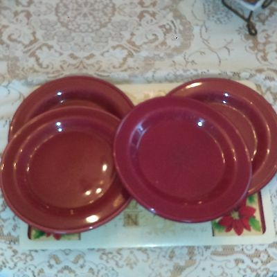 REDUCED Gerald Henn Set of 4 (Maroon, Red) Dishes, Purchased at Workshop