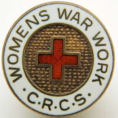 WWII Womens War Work Canadian Red Cross Society Badge - Free Post