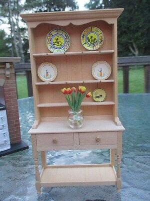 Dollhouse Miniatures Jane Newman, England, Kitchen Hutch w/ 8 Cup Hooks, Drawers