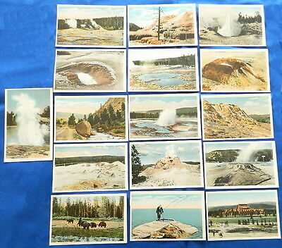 c1912 YELLOWSTONE NATIONAL PARK POSTCARDS x 16 Northern Pacific Railway UNUSED