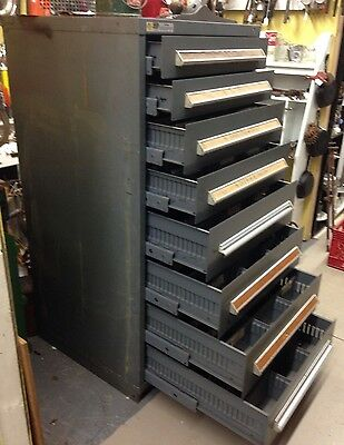 Stanley Vidmar 8 Drawer Industrial Tool Cabinet With Dividers W/ Key