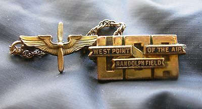 West Point of the Air Randolph Field USA Gold Cadet pin vintage