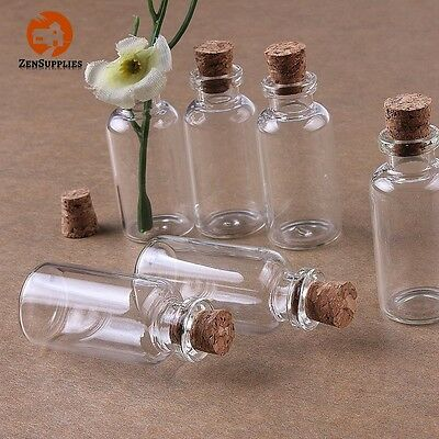 Cute Mini Jars Kit - 24 Small Mini Glass Bottles Jars With Cork Stoppers Party