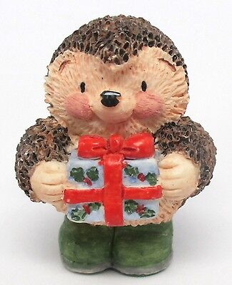 Gordon Fraser Country Companions - Tiny Ed Hedgehog with Present Resin Figurine