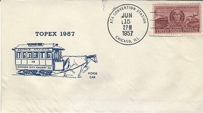 1957 TOPEX 1957 with Chicago City Railway Horse Cart cachet