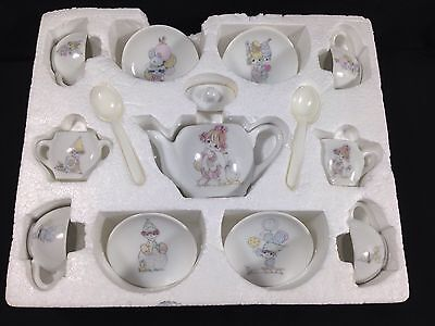 "Precious Moments Toy Tea Set 16 Pieces Porcelain ""All The World Loves A Clown"""