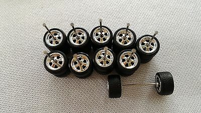 Hot Wheels Rubber Tires Real Riders 5 Sets CUSTOM medium axle Muscle Cars 10mm