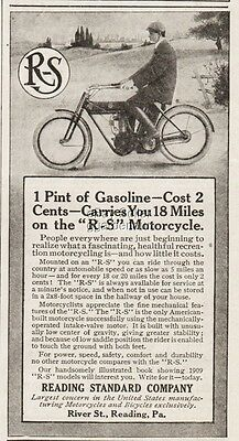 1909 Reading Standard Co PA Largest Bicycle & Motorcycle Manufacturer In US Ad